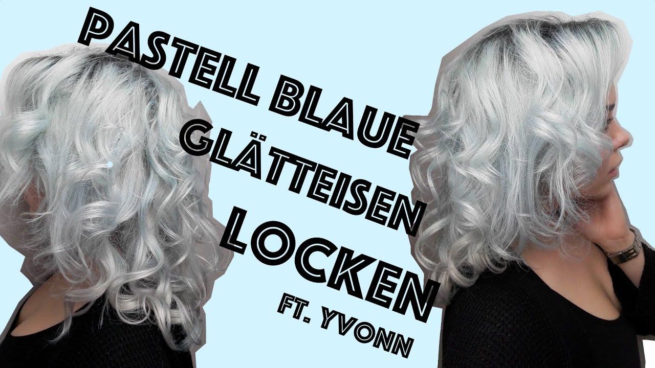 Pastell Blaue Haare Ohne Farben Und Glatteisen Locken V Hair Valentina Vale