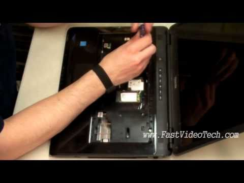 Toshiba Satellite Disassembly to CLEAN CPU VENTS / FAN