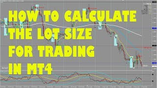 HOW TO CALCULATE THE LOT SIZE FOR TRADING IN MT4
