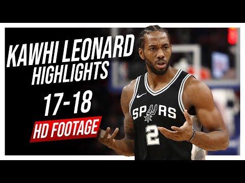 Spurs SF Kawhi Leonard 2017-2018 Season Highlights ᴴᴰ