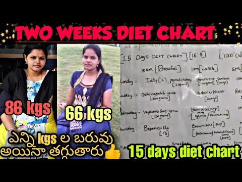 Diet plan to lose weight fast inTelugu|Weight loss tips to lose 10 to15kgs easily|