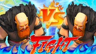 "CLASH OF CLANS -GIANT VS GIANT(INSANE) FIGHT! ""FUNNY MOMENTS + TOWN HALL 1O MAX TROOPS"" (MUST WATCH)"