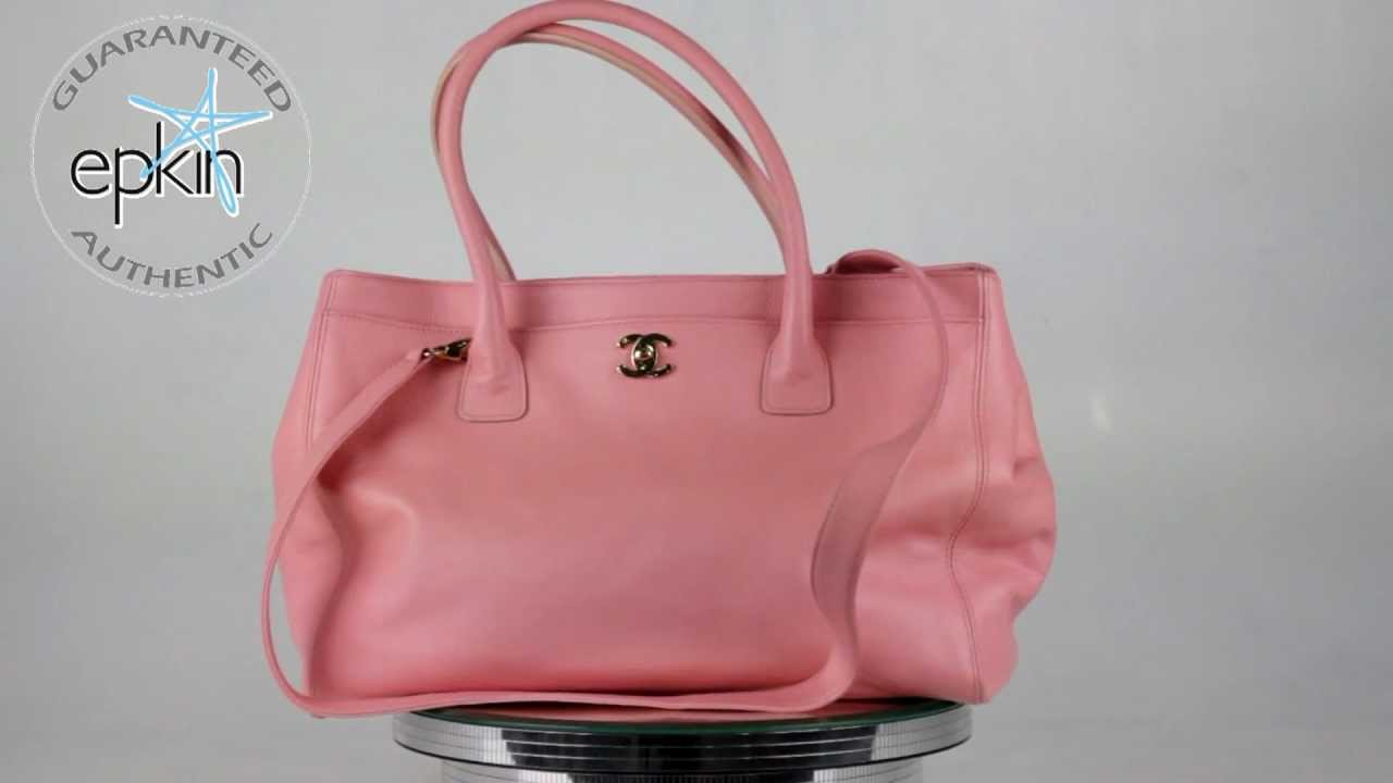 4db0772f501ccd Chanel Leather Executive Cerf Tote Shopper Handbag CC Bag Purse Authentic  Pink