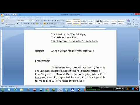 An application for a transfer certificate - YouTube