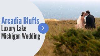 Northern Michigan Arcadia Bluffs Summer Outdoor Wedding