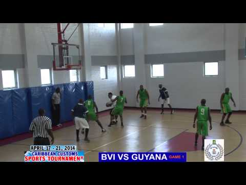 BASKET BALL BVI VS GUYANA GAME 1 Caribbean customs sports we