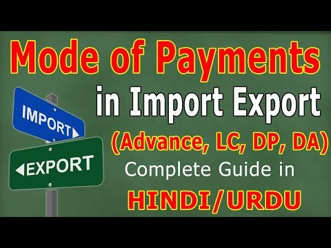 Methods of Payment in International Trade (HINDI/URDU) - Imp