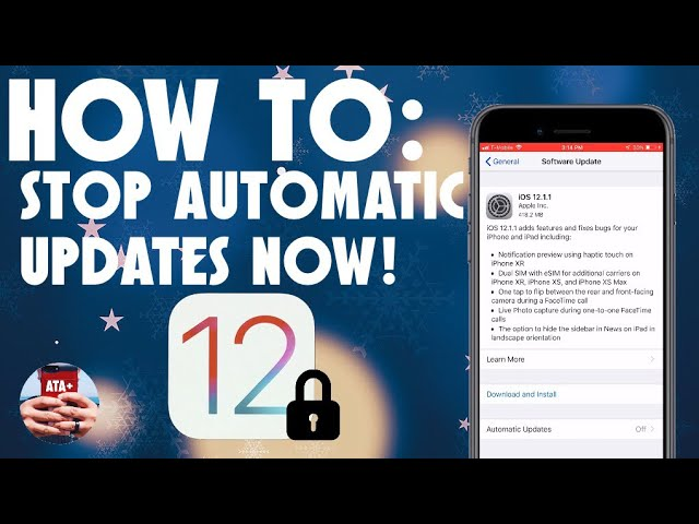 how to stop auto update ios 12