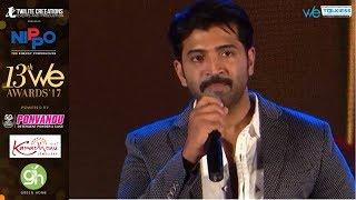 Thala Ajith is my inspiration - Arun Vijay at WE awards 2017