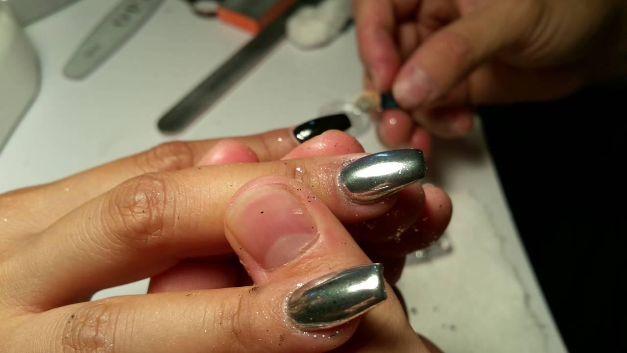 Me doing chrome nails nail art youtube me doing chrome nails nail art prinsesfo Gallery