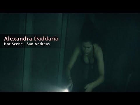Alexandra Daddario Hot Boobs Scene   San Andreas