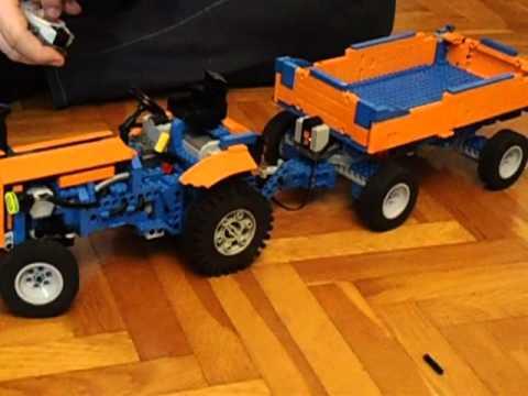 Lego Trattore Tractor Rc Power Con Rimorchio 9v