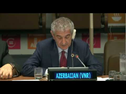 Original - Azerbaijan presents VNR at high-level ministerial meeting of the HLPF on SDGs