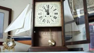 Vintage New England Clock Company Bim Bam Mantel/wall Clock