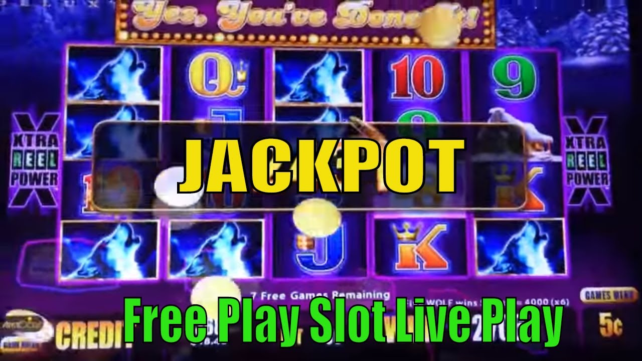 ★jackpot On Free Play☆hand Pay Timber Wolf Deluxe Slot