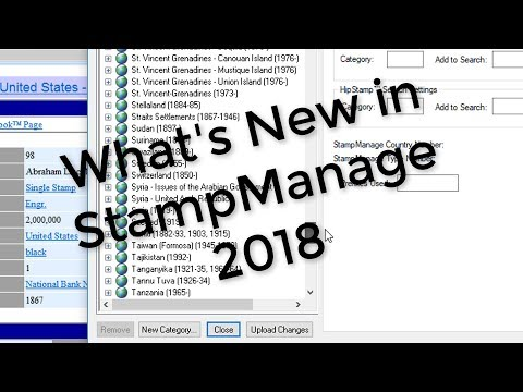 Stamp Collecting Inventory Software + Scott Catalog #s