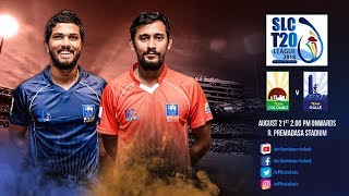 SLC T20 League 2018 - Match 1: Team Colombo vs Team Galle
