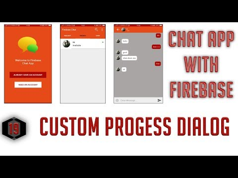 Custom Progress Dialog For Login #19 Android Firebase Chat App In Hindi/Urdu