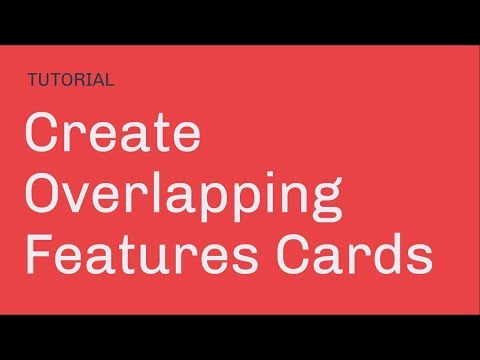 Create Overlapping Features Cards