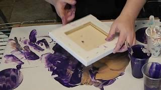 (15) Dip Technique with Purple Acrylic Pour