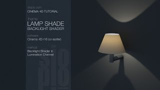 Cinema 4D Tutorial - Lampshade (Backlight Shader)