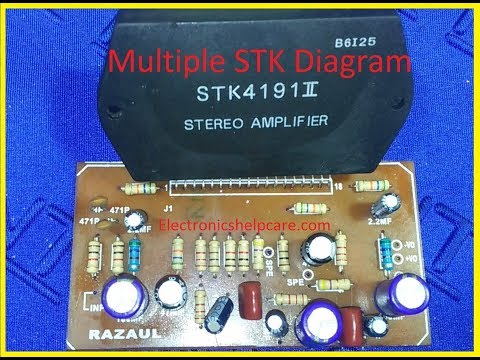 How To Make Stk4191 Stereo Amplifier? Multiple STK Circuit Diagram? Stk4141 To Stk4191, Electronics