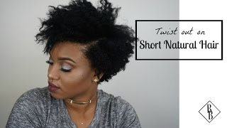 Twist-Out on Stretched Short Natural 4C Hair (with Tapered Cut) - Style Me B