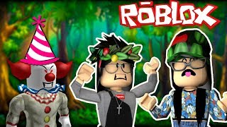 ROBLOX ESCAPE THE CLOWN-THE JU IS THE CLOWN? OU ISA?