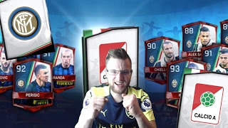 Fifa mobile calcio a master packs! 2 calcio a master pulls! plus inter milan set completion!