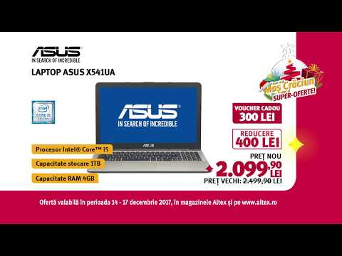 Reclamă ALTEX Laptop Asus Voucher - decembrie 2017