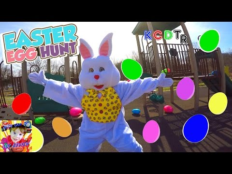 EASTER EGG HUNT With The EASTER BUNNY at the PLAYGROUND!