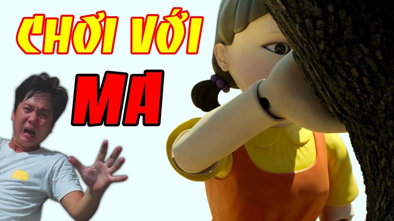 Thử Thách TRÒ CHƠI CON MỰC Với Ma Búp Bê | SQUID GAME 2021 | Phim Ma | Linh Ẩm Thực