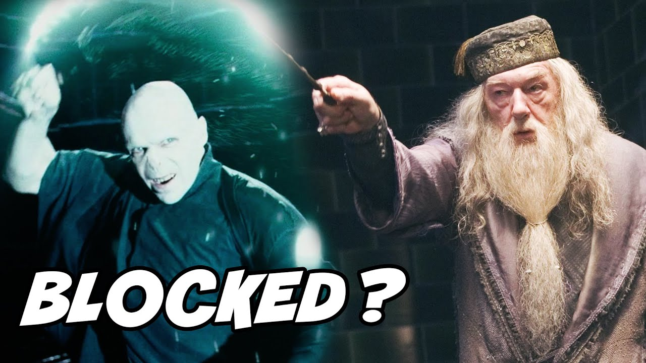 How Did Dumbledore Block Voldemort S Avada Kedavra To Save Harry Harry Potter Explained Youtube