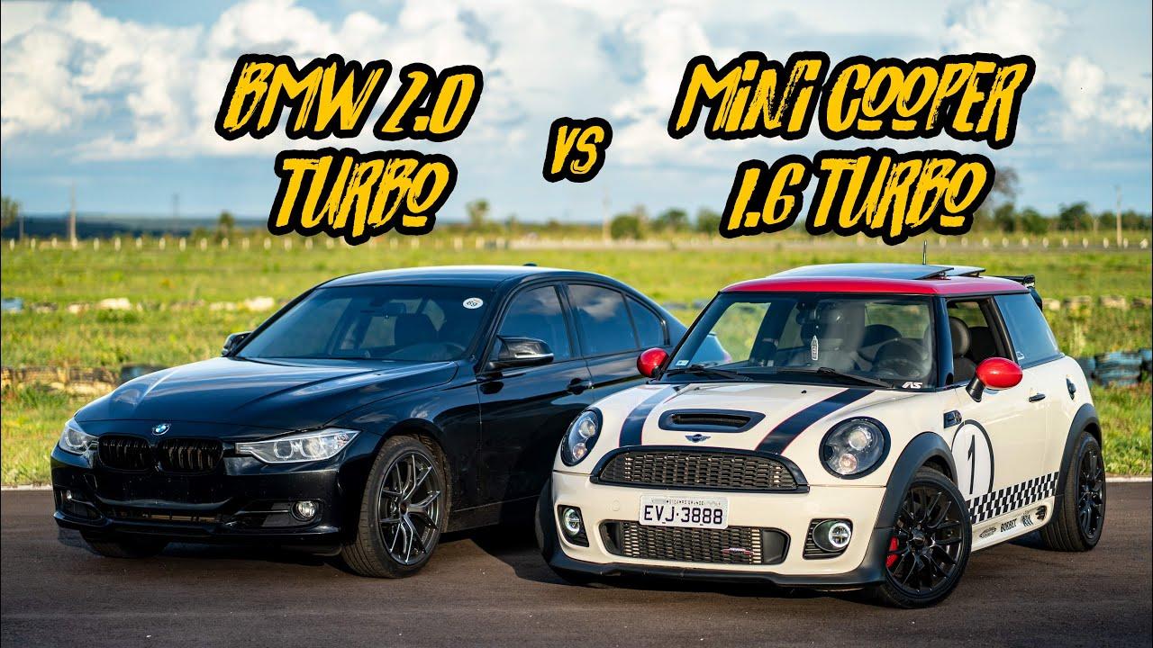 BMW 320I VS MINI JCW MANUAL STG2! PLAYSTATION VS HOTWHEELS
