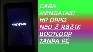 cara atasi oppo F7 hang logo NO PC & SD card.