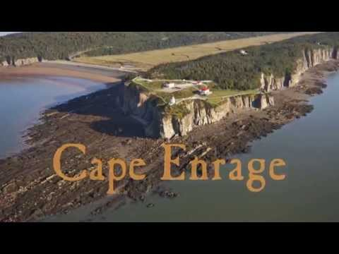 Fly Over Cape Enrage - New Brunswick - Canada