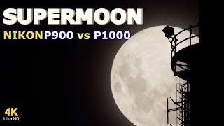 Nikon P900 vs P1000: Super Moon - Moon mode Zoom test