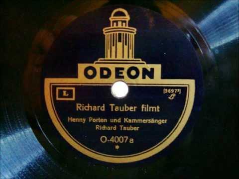 Richard Tauber filmt  Richard Tauber und Henny Porten  März 1927