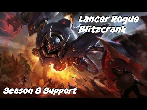 League of Legends: Lancer Rogue Blitzcrank Support Gameplay