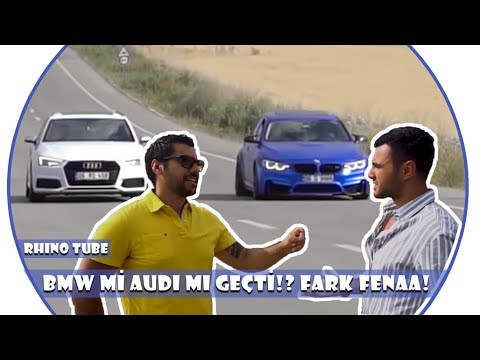 [KAPIŞMA!! DRAG AUDI vs BMW / Rolling ve Fren! BMW 3 vs AUDI A4