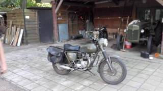 Triumph 3TA start up and drive