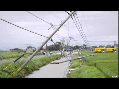 Typhoon Goni Drenches Japan