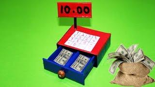 Как сделать кассу для кукол. How to Make a Doll Cash Register. Doll Crafts