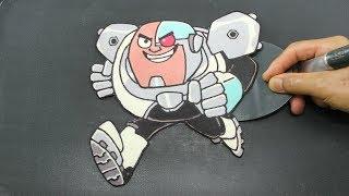 Teen Titans Go! CYBORG the Teen Robot PANCAKE