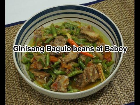 Paano magluto Ginisang Baguio Beans at Baboy Recipe - Tagalog Pinoy Filipino