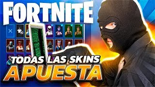 HACKER BETS *ALL FORTNITE SKINS* in 1VS1 and *ACABA MAL*