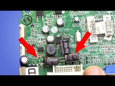 видео: КАЛХОЗ  Блок питания ОК, но монитор не включается (lg flatron w2284f)