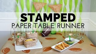 How To Make A Stamped Football Party Table Cover
