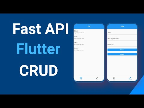 Fast API and Flutter CRUD Application