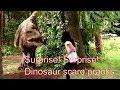 Jurassic park scare pranks   Dinosaur scare pranks compilation